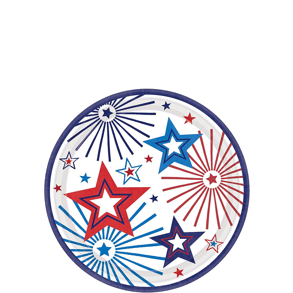 Happy 4th of July Tableware Kit 18 Guests Image #2