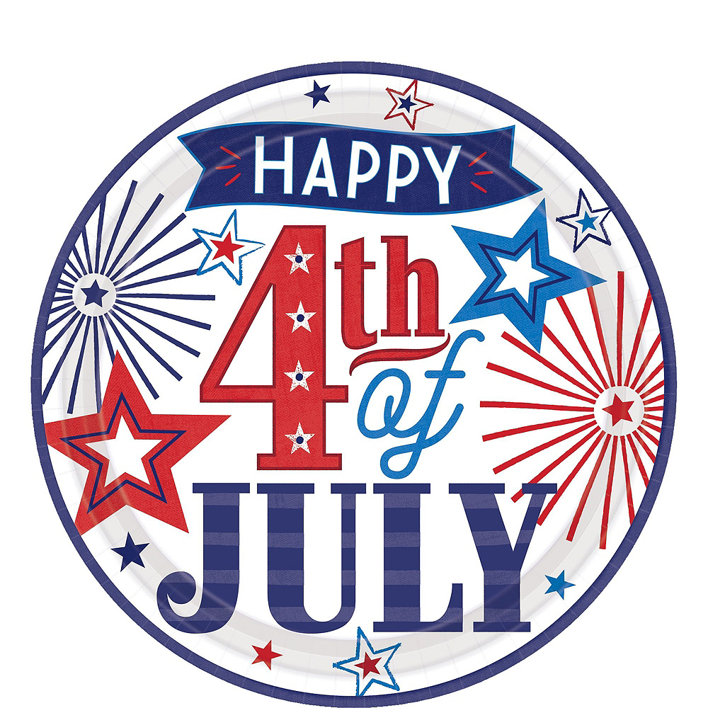 Happy 4th of July Tableware Kit 18 Guests Image #3