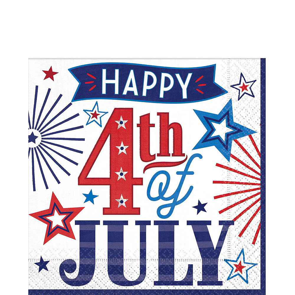Happy 4th of July Tableware Kit 18 Guests Image #5