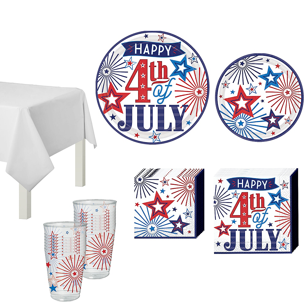 Happy 4th of July Tableware Kit 36 Guests Image #1
