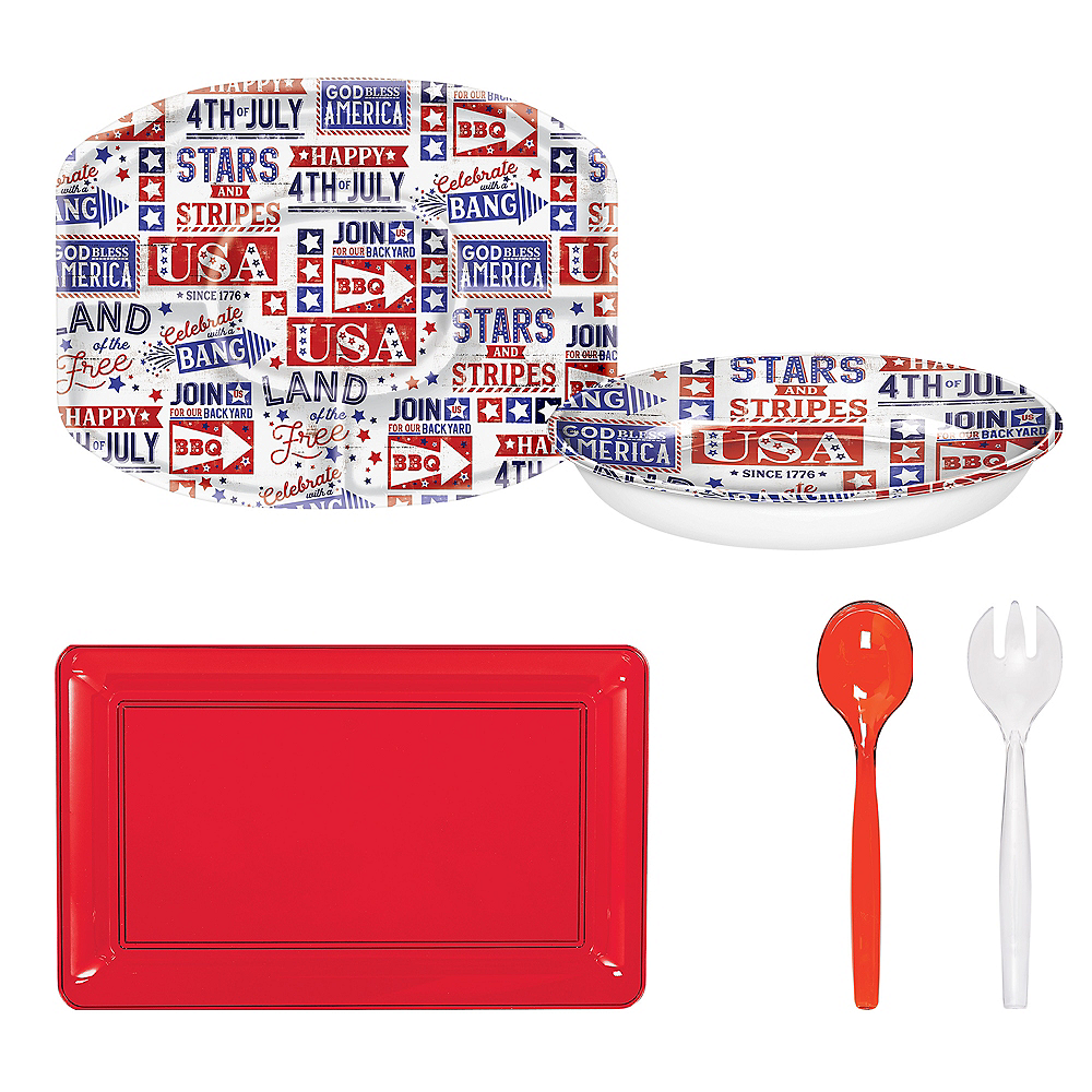 Happy 4th of July Serveware Kit Image #1