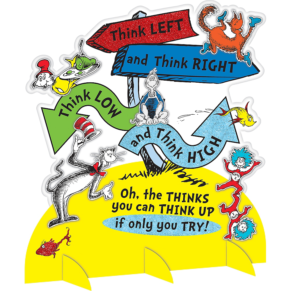 Dr. Seuss Think Centerpiece Image #1