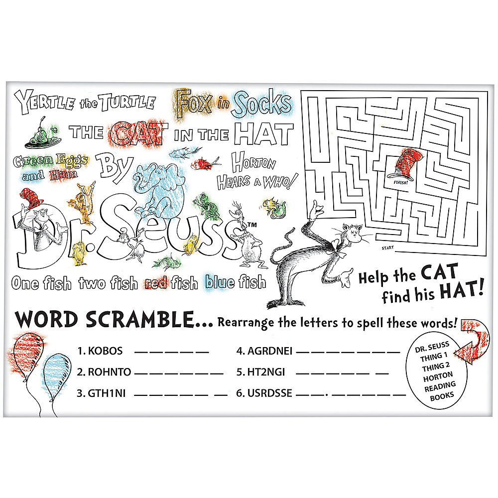 Dr. Seuss Activity Sheets 24ct Image #1
