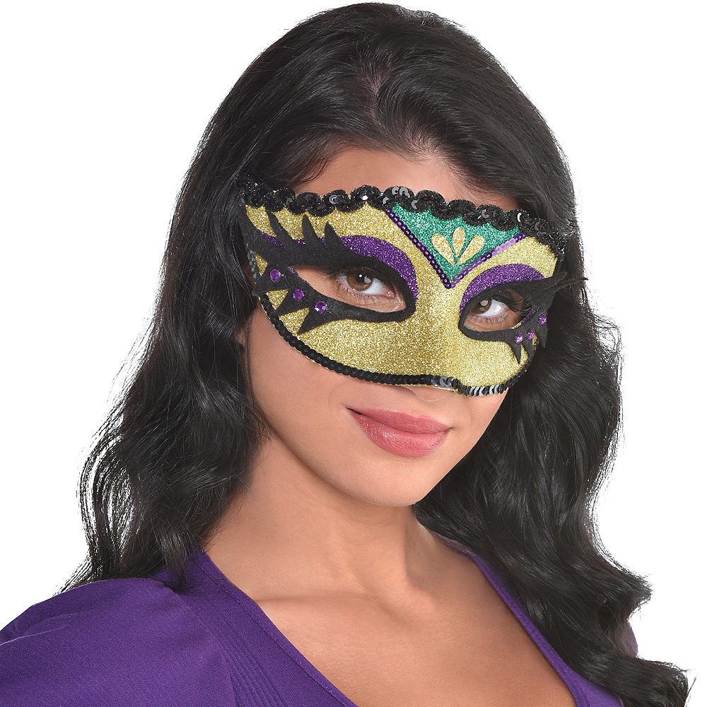 Nav Item for Eyelash Mardi Gras Eye Mask Image #1