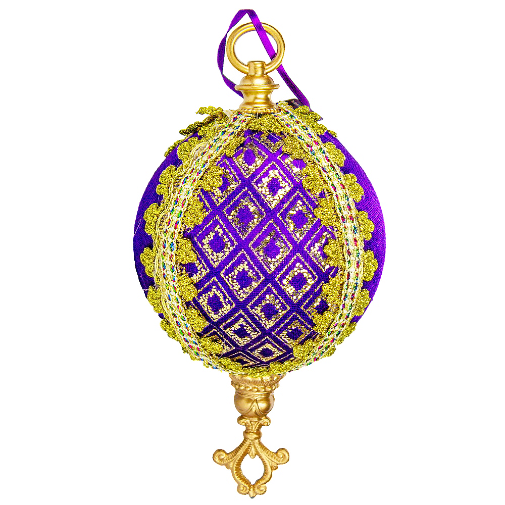 Royal Purple & Gold Orb Ornament Image #1