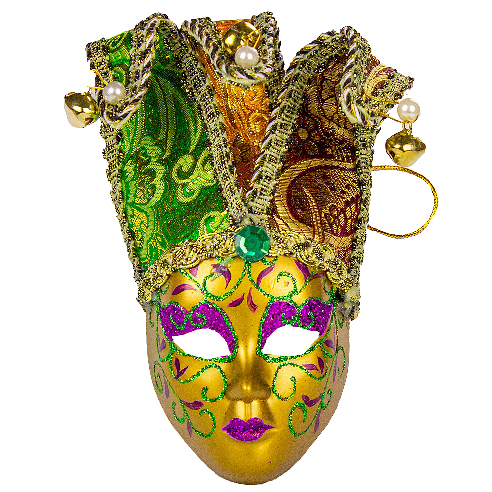 Venetian Mardi Gras Face Mask Ornament Image #1