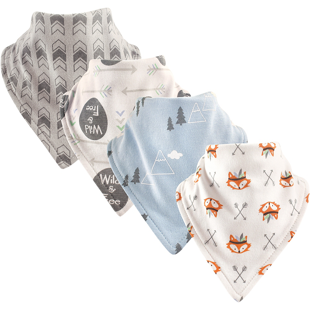 Wild and Free Luvable Friends Bandana Bibs, 4-Pack Image #1
