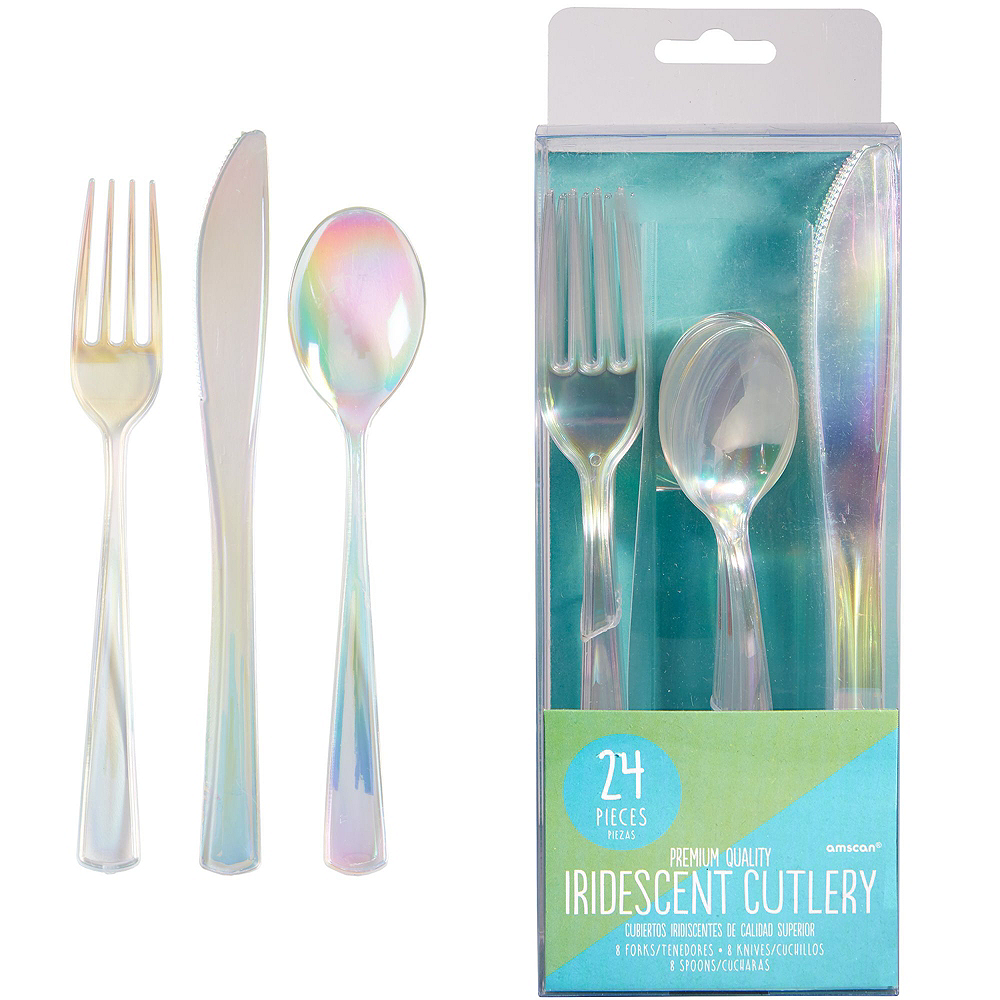 Ginger Ray Iridescent Tableware Kit for 16 Guests Image #5