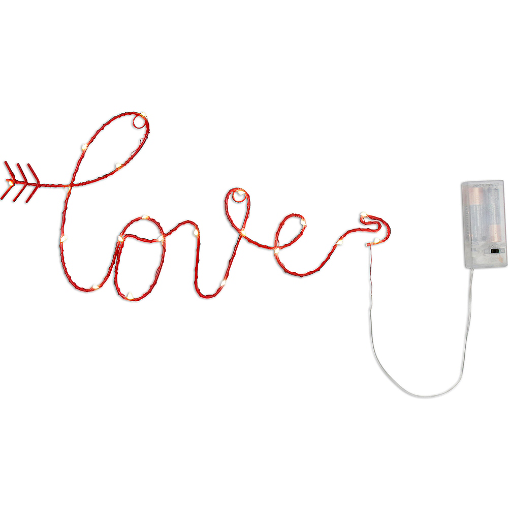 Light-Up Cursive Love Sign Image #1