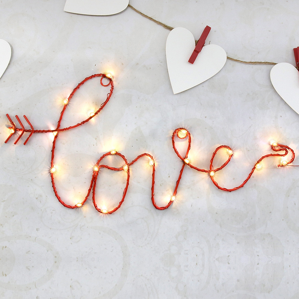 Light-Up Cursive Love Sign Image #2