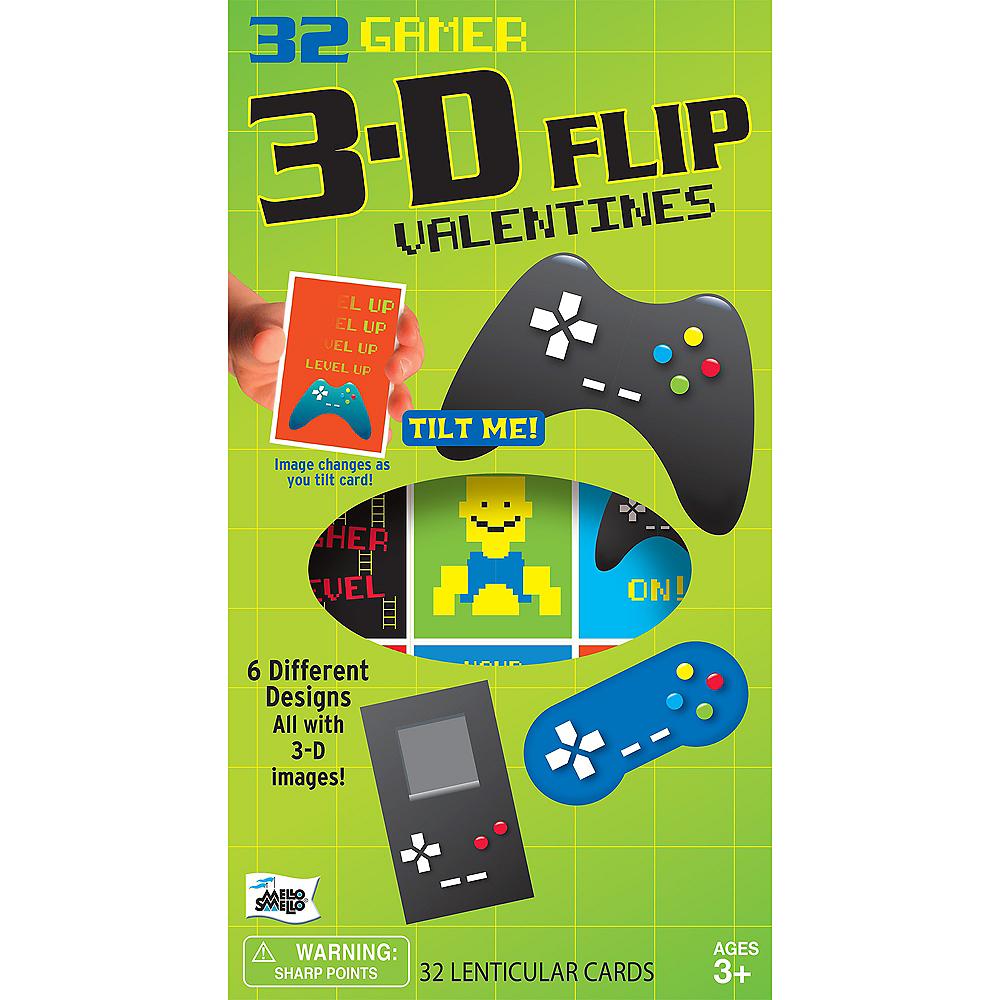 Gamer 3D Flip Valentine's Day Card Kit 32ct Image #1