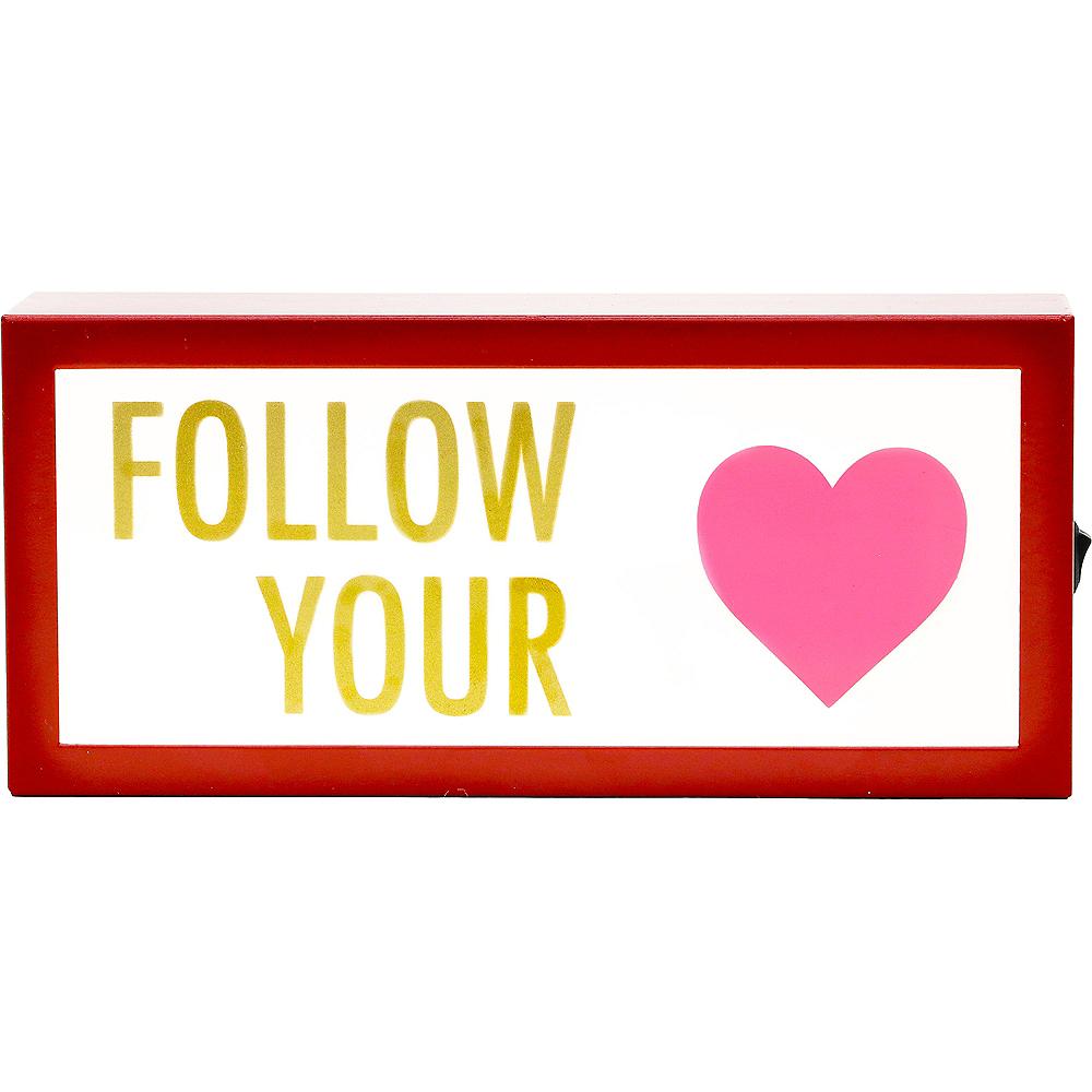 Follow Your Heart Light Box Image #1