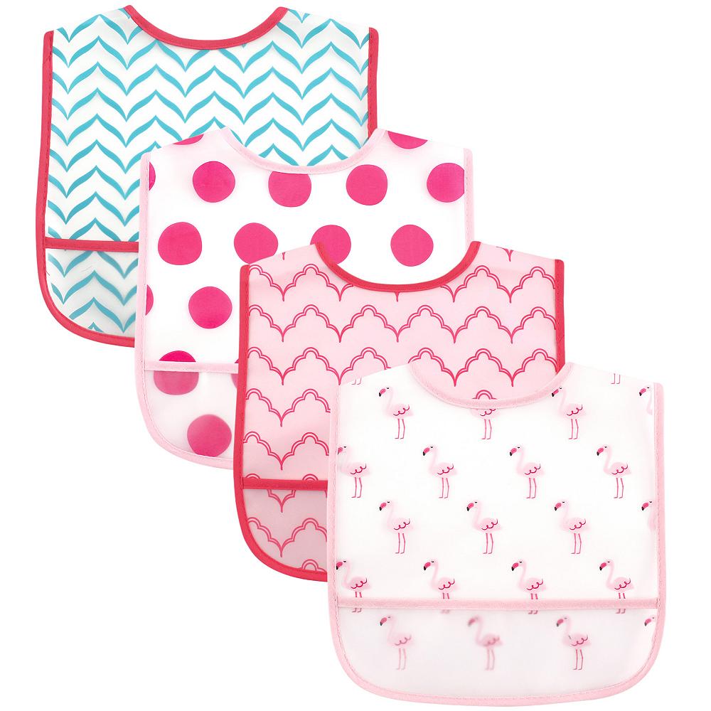 Flamingo Luvable Friends Waterproof Bibs, 4-Pack Image #1
