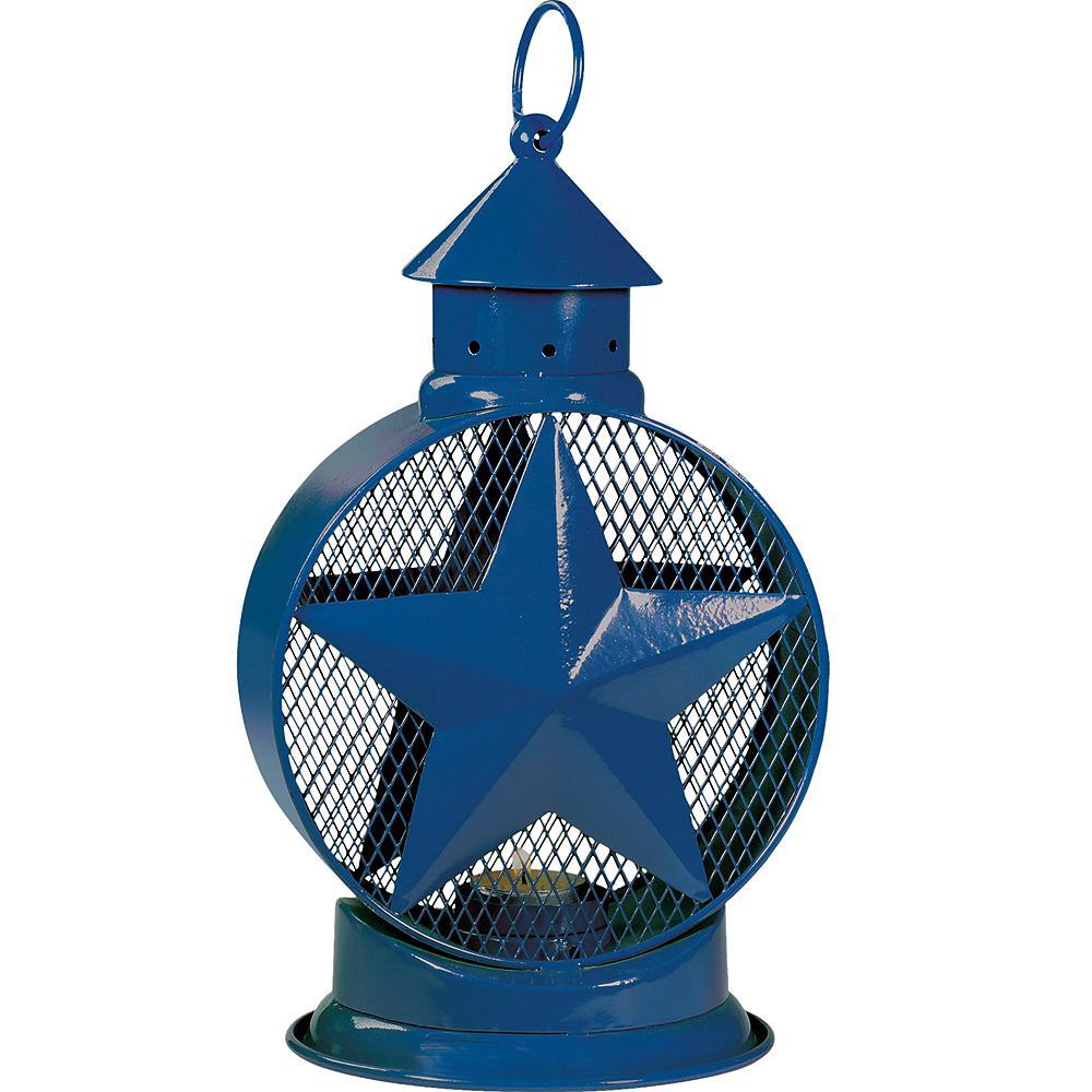 Blue Star Lantern Tealight Candle Holder Image #1