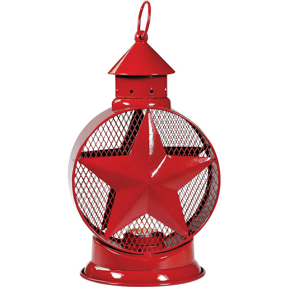 Red Star Lantern Tealight Candle Holder