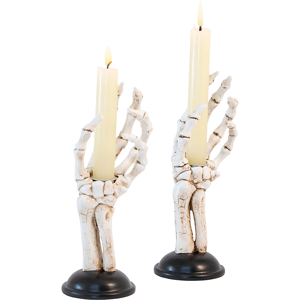 Skeleton Hand Candle Holders 2ct Image #1
