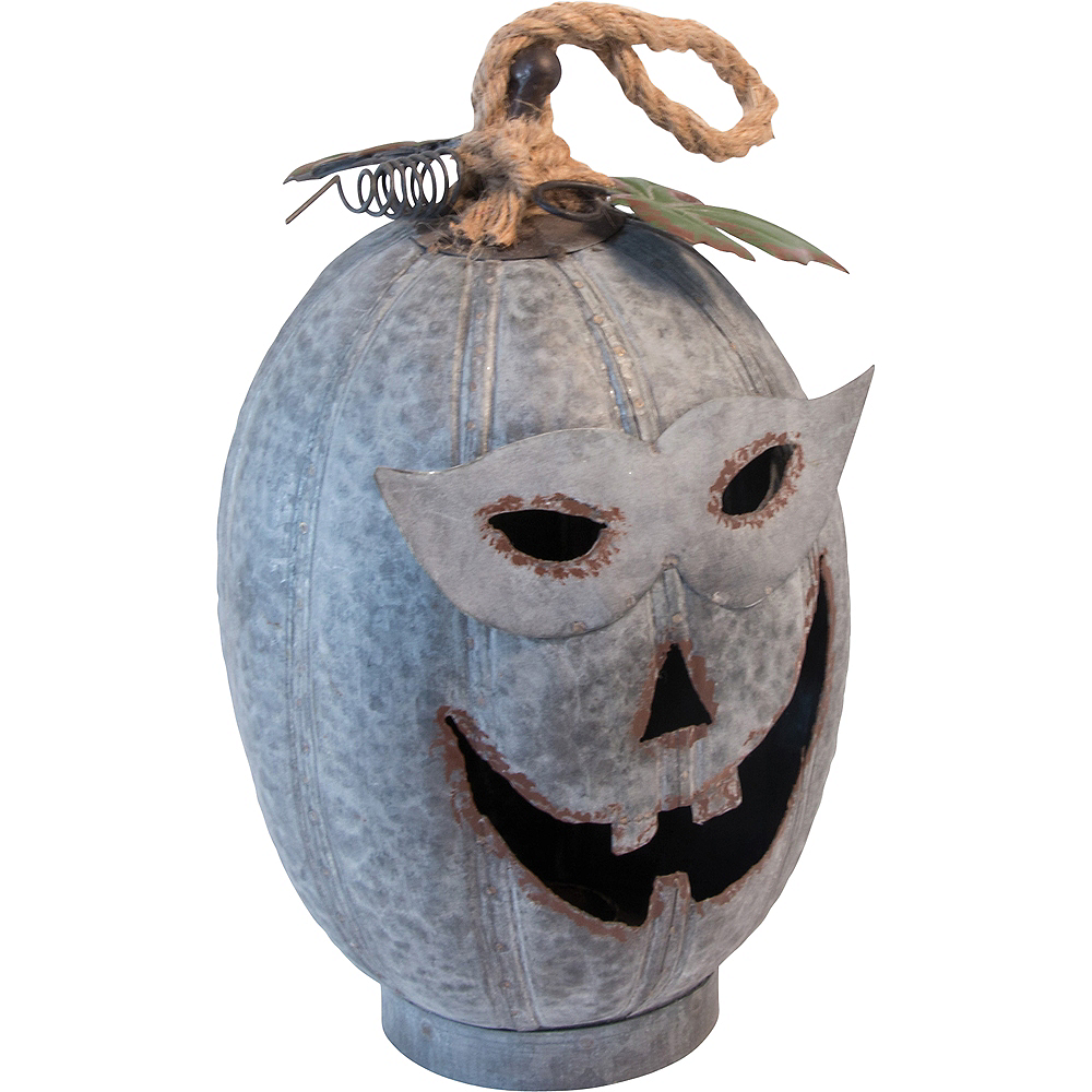 Masked Marvin Galvanized Jack-o'-Lantern Image #1