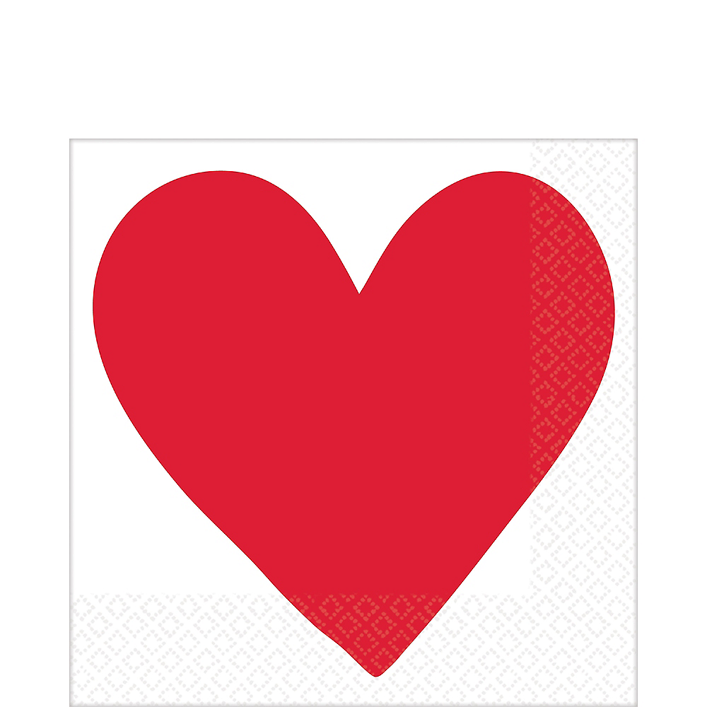 Valentine's Day Heart Lunch Napkins 16ct Image #1