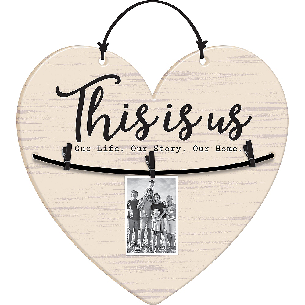 This Is Us Heart Photo Sign Image #1