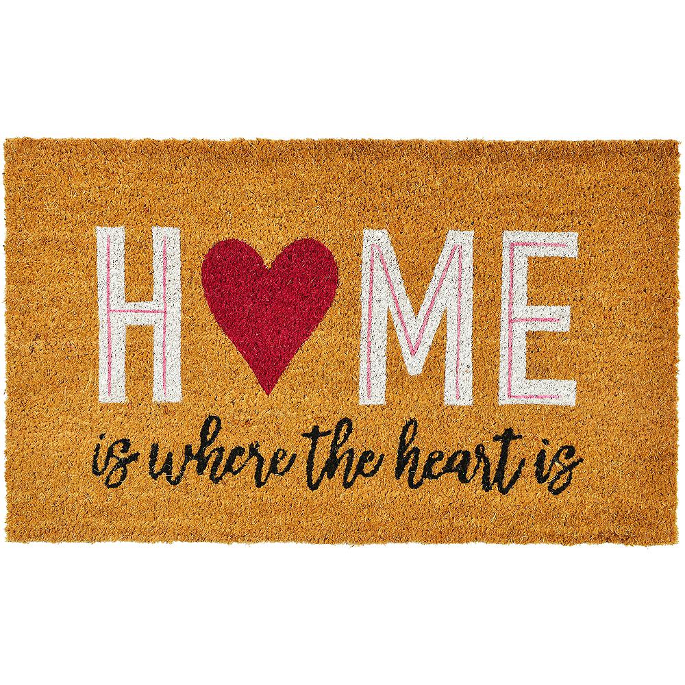 Home is Where the Heart is Door Mat Image #1