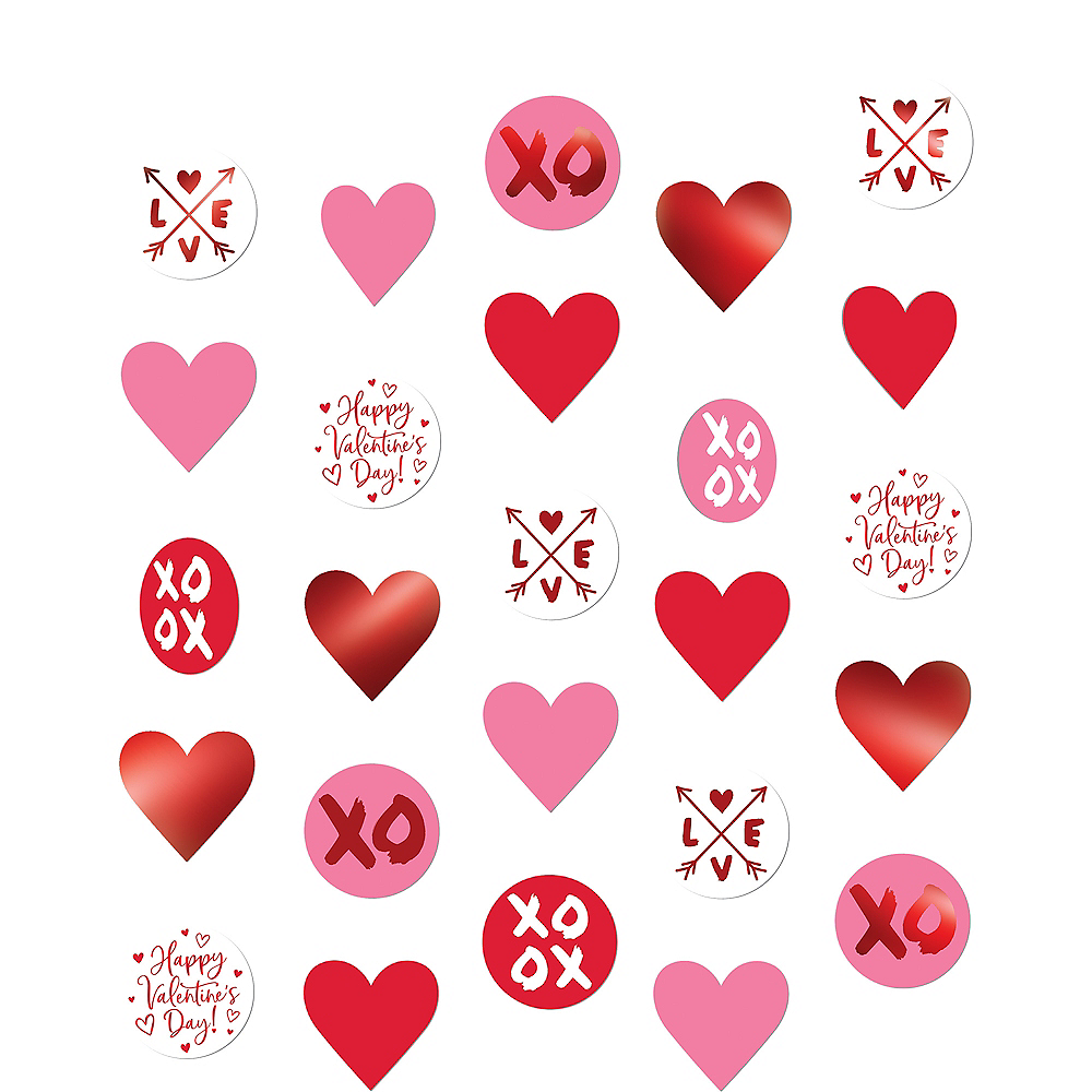 Valentine's Day Hearts String Decorations  5ct Image #1