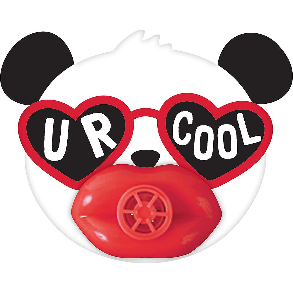 Valentine's Day Panda Lip Whistle s 12ct Image #1