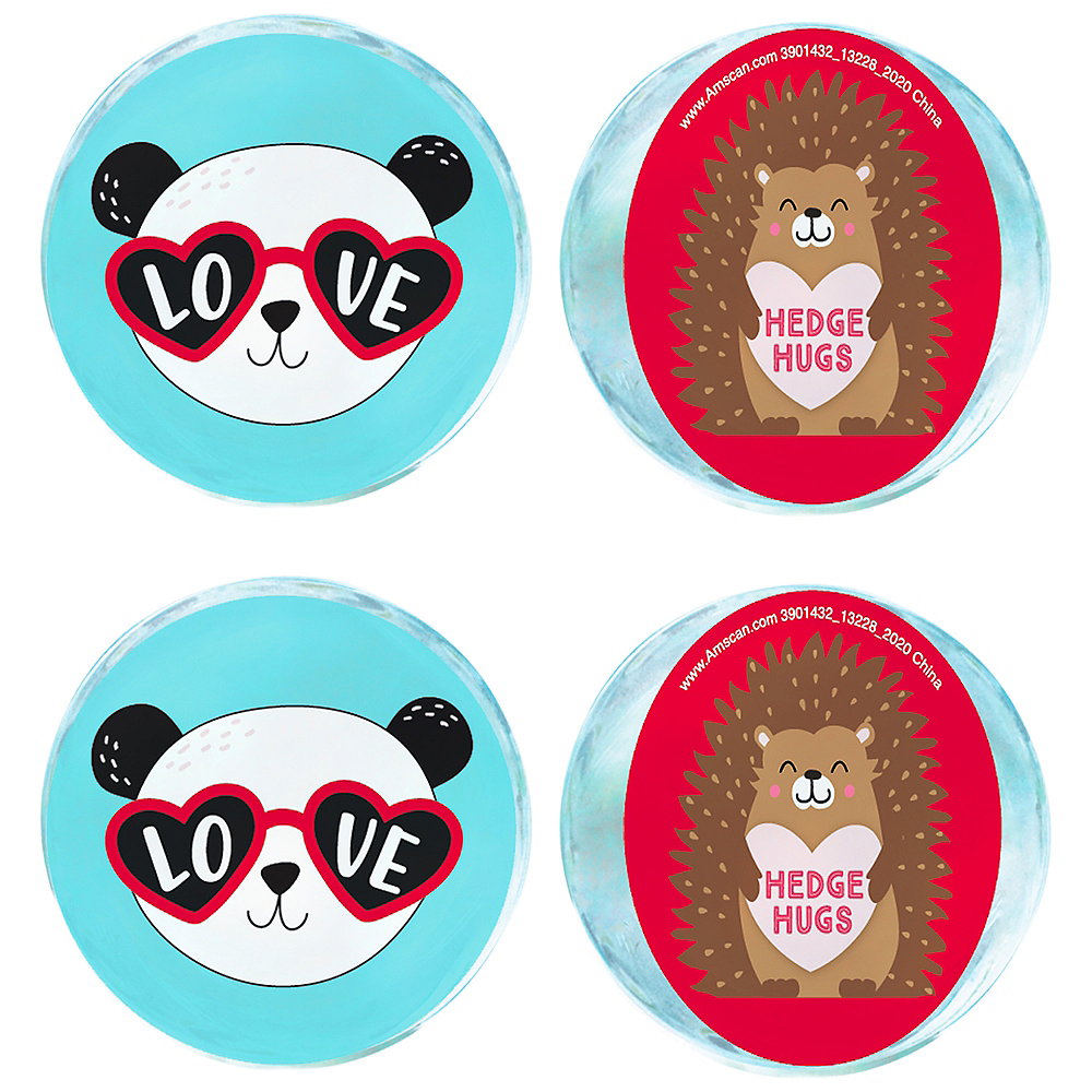 Cuddly Cubs Valentine's Day Bounce Balls  6ct Image #1
