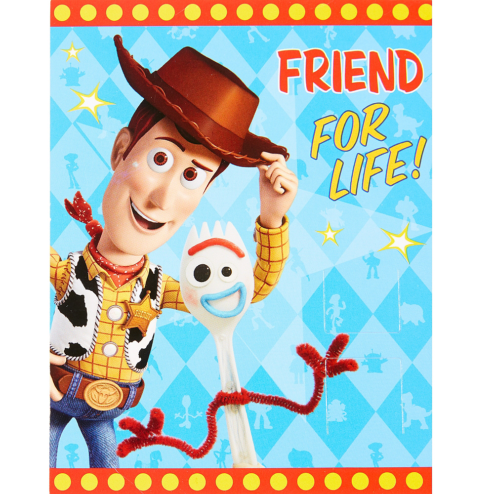 Toy Story 4 Valentine Exchange Cards with Springs 12ct Image #1