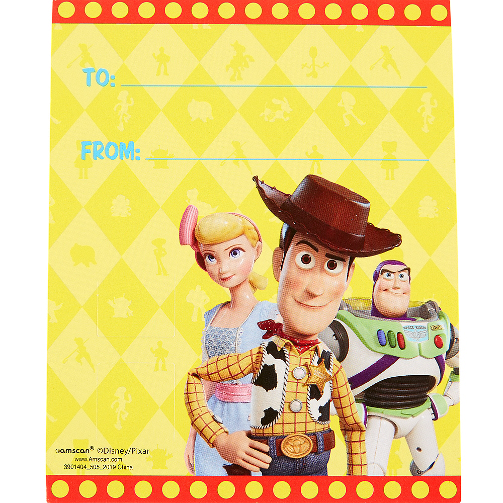 Toy Story 4 Valentine Exchange Cards with Springs 12ct Image #2