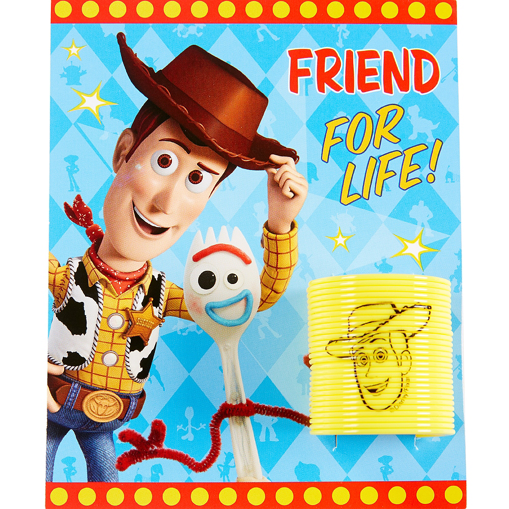 Toy Story 4 Valentine Exchange Cards with Springs 12ct Image #3