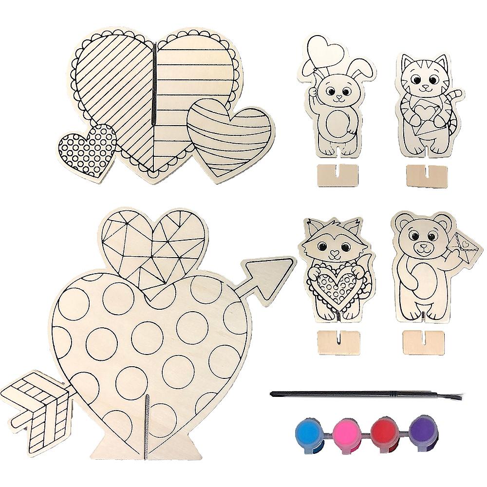 Valentine's Day DIY Centerpiece Kit 10pc Image #1