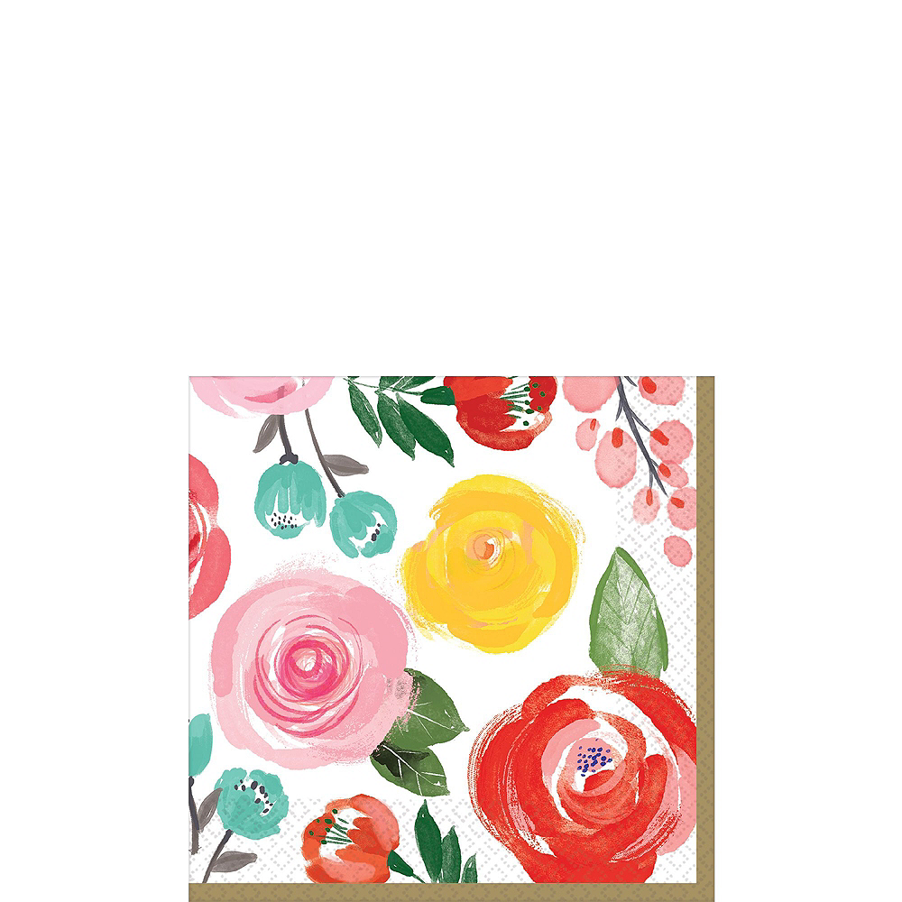 Super Bright Floral Tableware Kit for 16 Guests Image #4