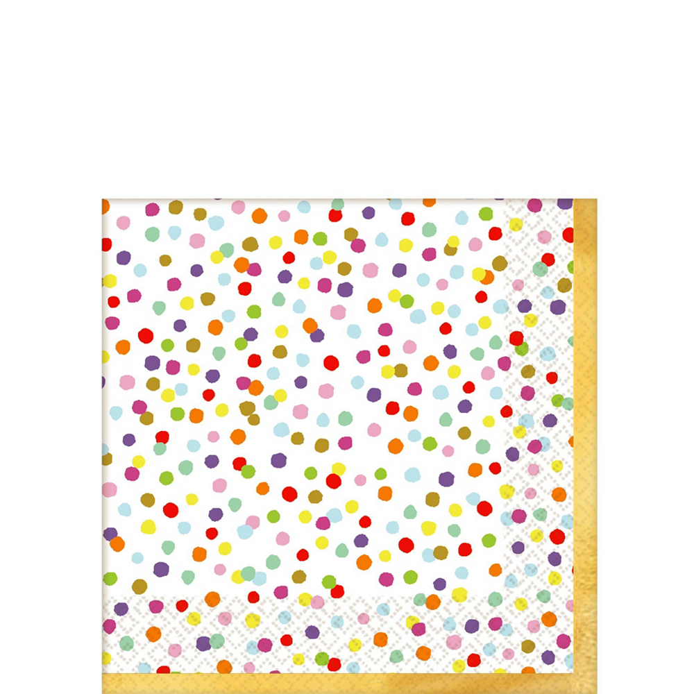 Rainbow Confetti Tableware Kit for 16 Guests Image #4