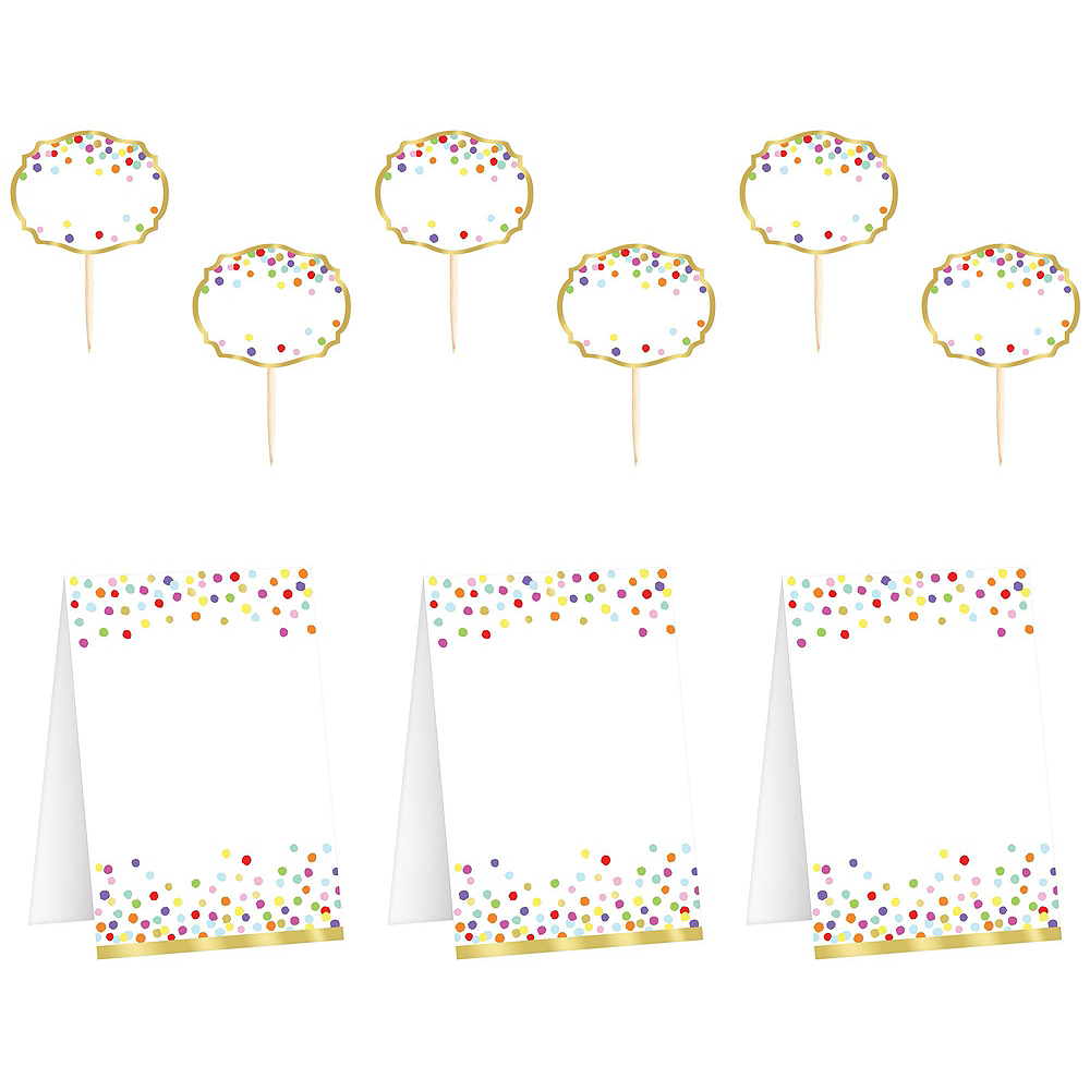 Super Rainbow Confetti Tableware Kit for 16 Guests Image #10