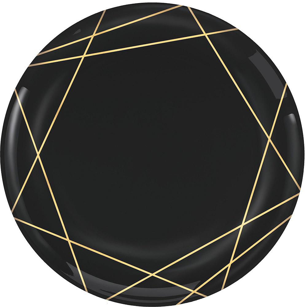 Black & Metallic Gold Line Premium Tableware Kit for 20 Guests Image #3