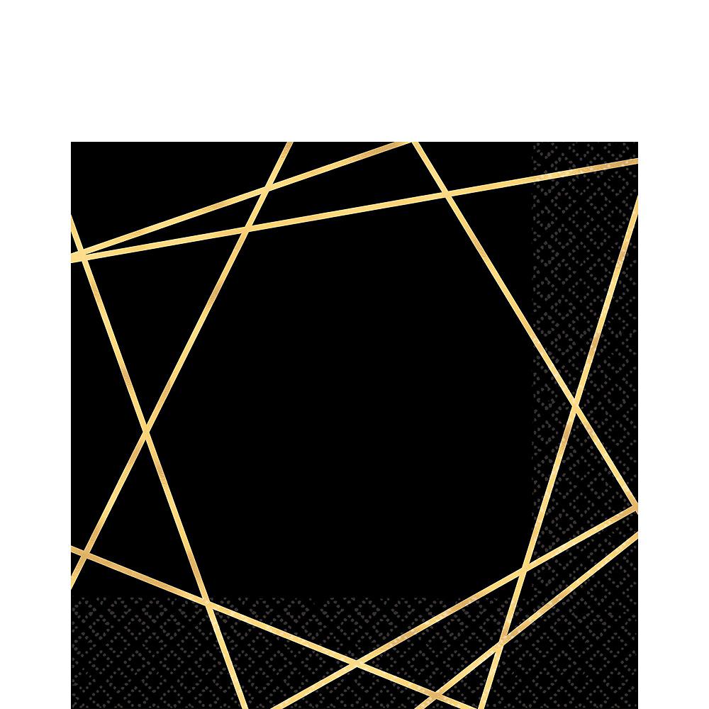 Black & Metallic Gold Line Premium Tableware Kit for 20 Guests Image #5
