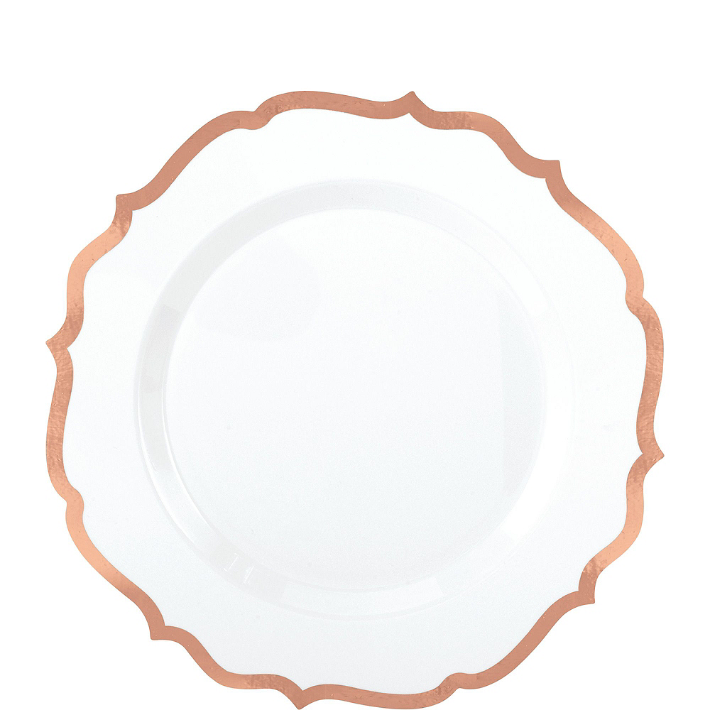 Nav Item for White Rose Gold-Trimmed Ornate Premium Tableware Kit for 40 Guests Image #2