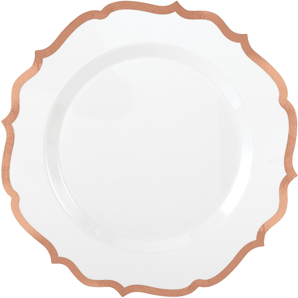 Nav Item for White Rose Gold-Trimmed Ornate Premium Tableware Kit for 40 Guests Image #3