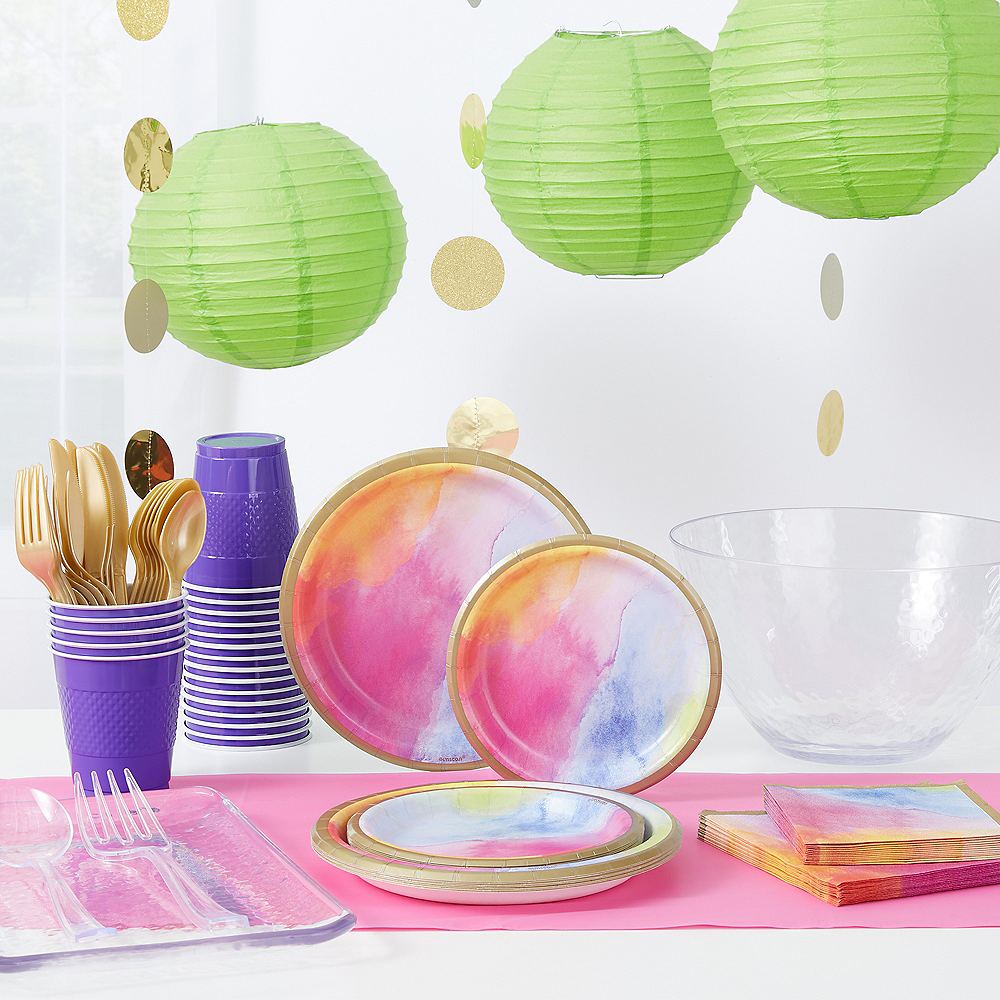 Watercolor Rainbow Party Kit for 32 Guests Image #1
