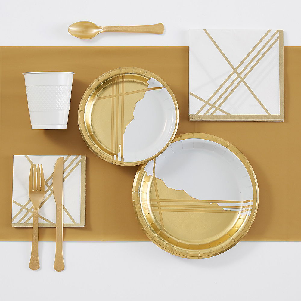 Gold Facet Tableware Essentials Kit for 16 Guests Image #1