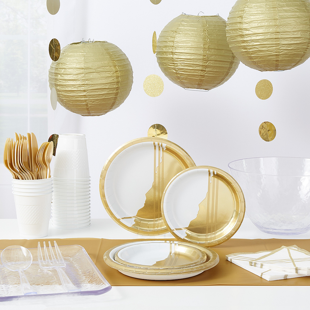 Gold Facet Party Kit for 32 Guests Image #1