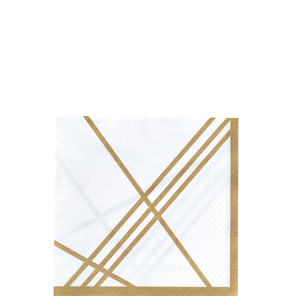 Gold Facet Party Kit for 32 Guests Image #8