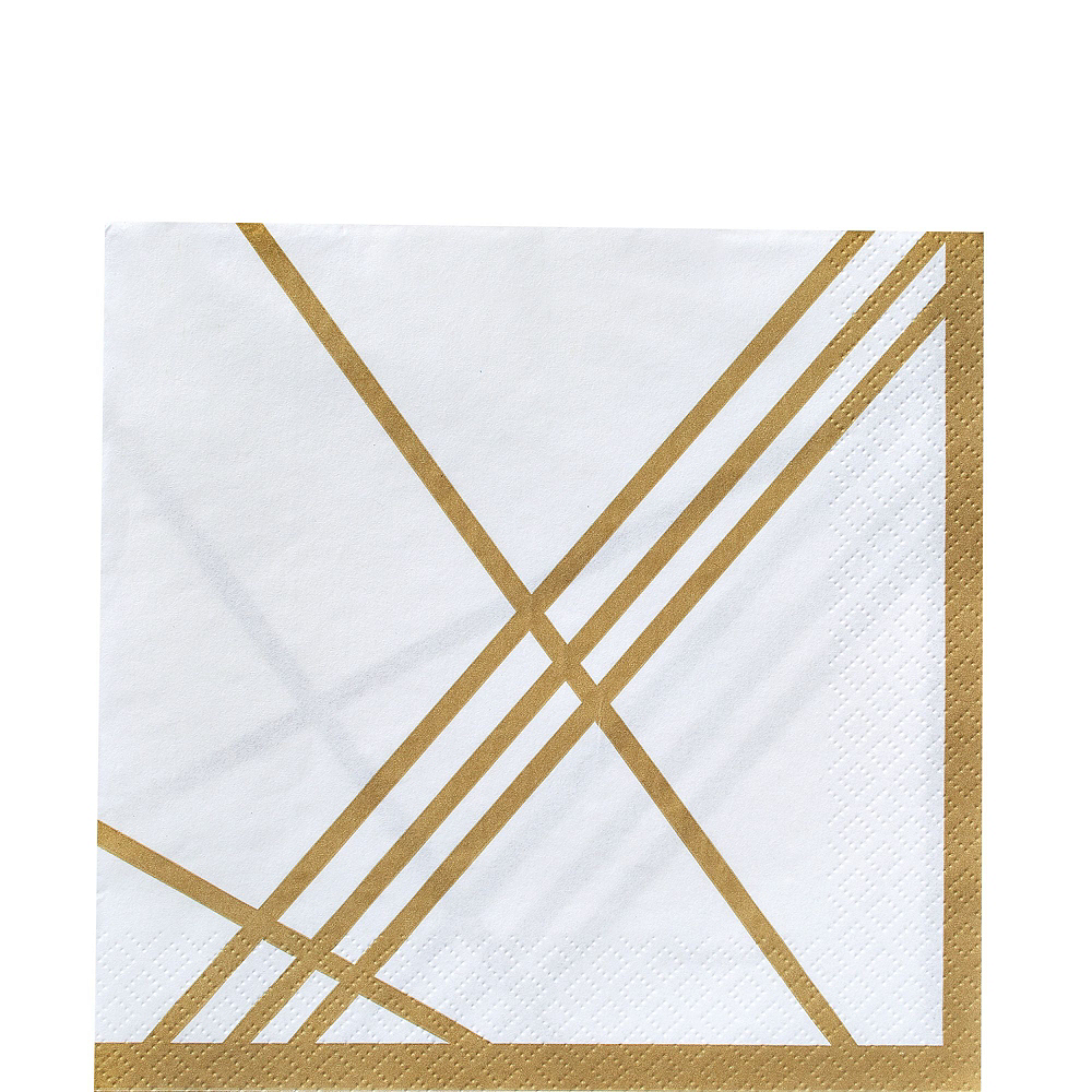 Gold Facet Party Kit for 32 Guests Image #9