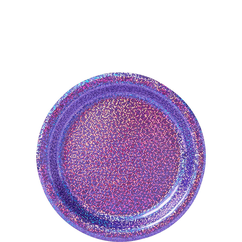 Prismatic Purple Tableware Kit for 16 Guests Image #2