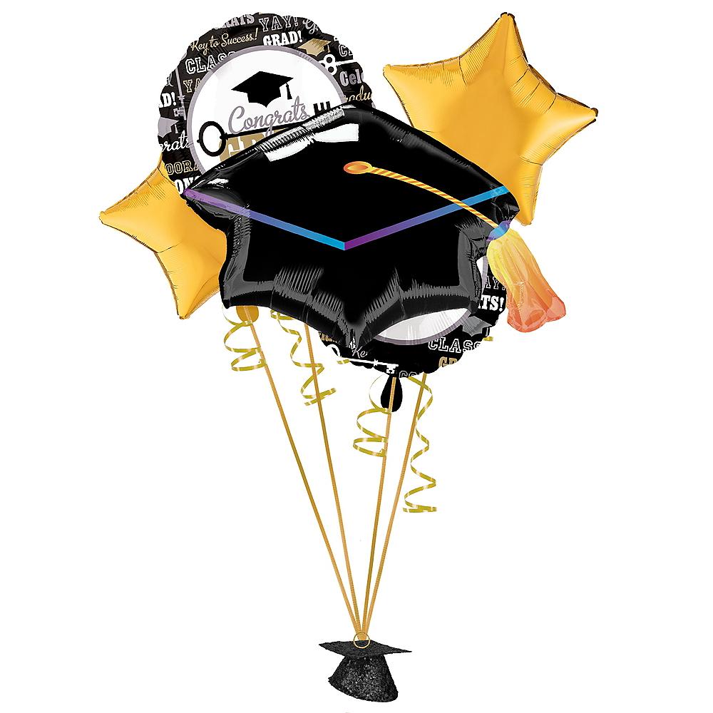 Black, Gold & Silver Graduation Balloon Kit Image #1