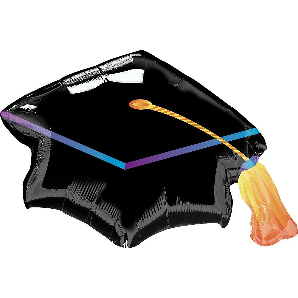 Black, Gold & Silver Graduation Balloon Kit Image #4