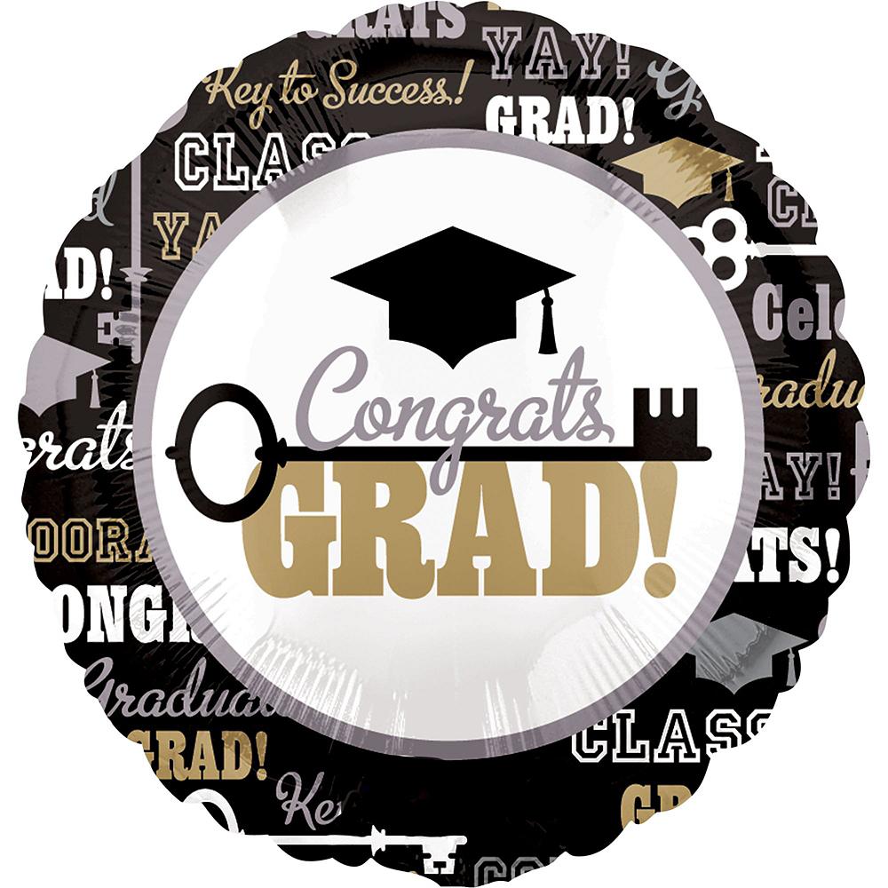 Black, Gold & Silver Graduation Balloon Kit Image #6