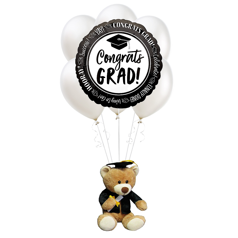 Nav Item for Black & White Graduation Plush & Balloon Kit Image #1