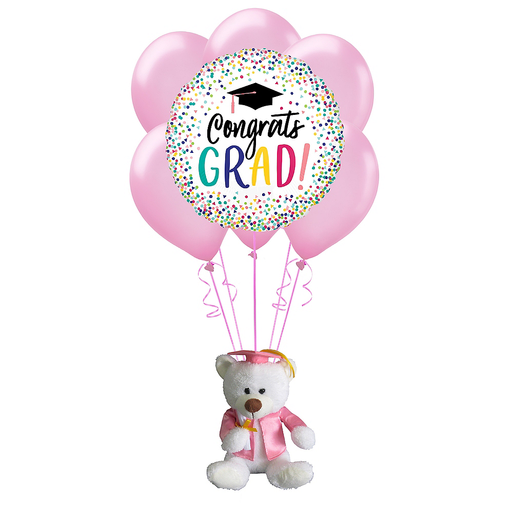 Pink Graduation Plush & Balloon Kit Image #1