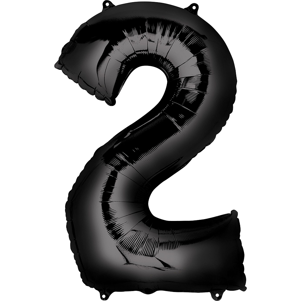 34in Air-Filled Black 2019 Graduation Balloon Centerpiece Kit Image #4